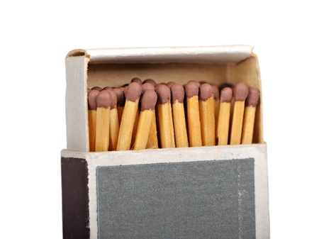 Box of matches isolated on a white background photo