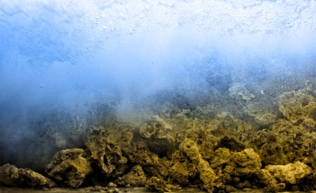 Swash underwater with stones photo