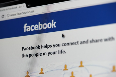 RUSSIA, SAINT-PETERSBURG - JANUARY 28: Facebook homepage, one of the popular social media networking website on January 28, 2012 in Saint-Petersburg.
