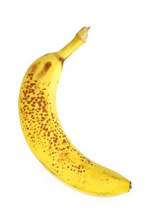 Old bad banana isolated on white photo