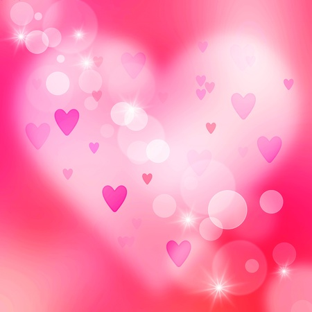 Beautiful abstract pink background of holiday lights  photo