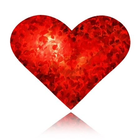 Red heart isolated on white Stock Photo - 12332704