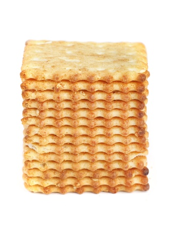 Square cookies isolated on white background photo