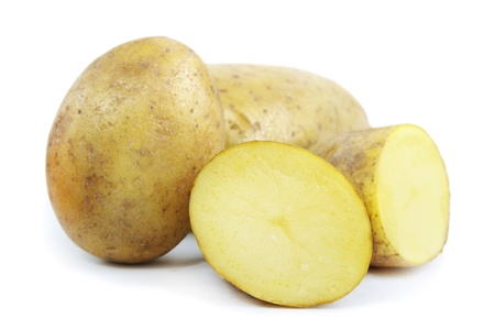 Potatoes isolated on a white background photo