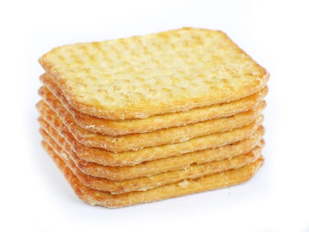 Crackers isolated on a white background Stock Photo - 13091324