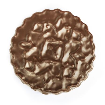 Galletas de chocolate aislado en blanco Foto de archivo - 13205037
