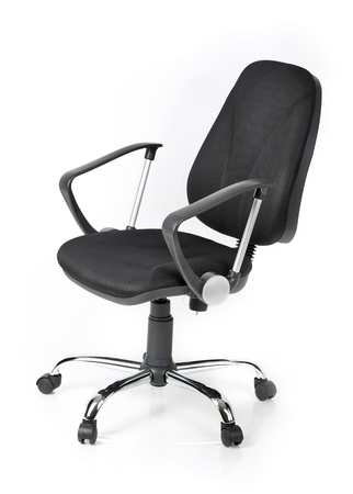 swivel: Comfortable office chair isolated on white background Stock Photo