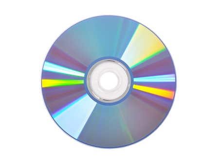 dvdrw: DVD disk isolated on white background Stock Photo