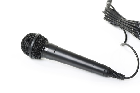 Professional dynamic microphone isolated on the white background Stock Photo - 13625312