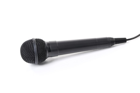 Professional dynamic microphone isolated on the white background photo