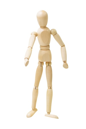 Wooden figure isolated on white background Stock Photo - 14073051