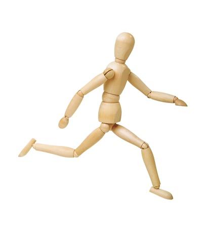 marioneta de madera: Figura de madera aisladas sobre fondo blanco