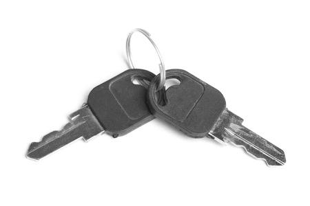 Pair of keys isolated on white background photo