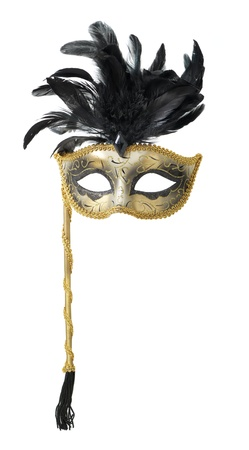 theatre mask: Carnival mask isolated on white background Stock Photo