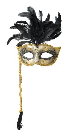mascara de teatro: M�scara de carnaval aisladas sobre fondo blanco Foto de archivo