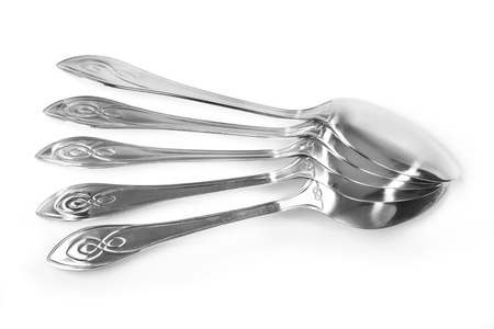 Spoons isolated on white background photo