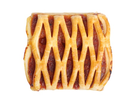 Fruit pie isolated on white background photo