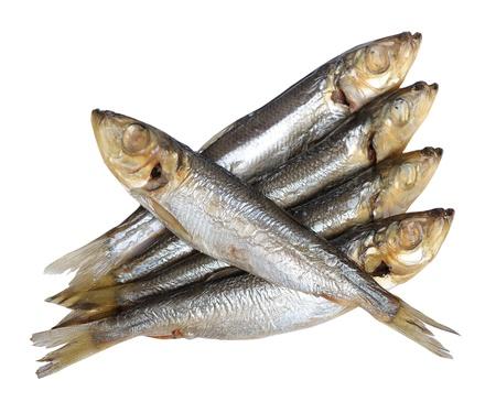 Fish food isolated on white background photo