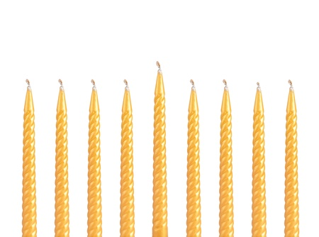 Hanukkah menorah isolated on white background photo