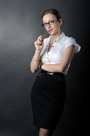Portrait of sexy business woman Stock Photo - 16686674