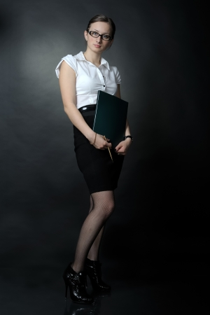 Portrait of sexy business woman photo