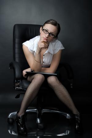 secretaria sexy: Retrato de mujer de negocios sexy Foto de archivo