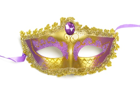masque: Carnival mask isolated on white background Stock Photo