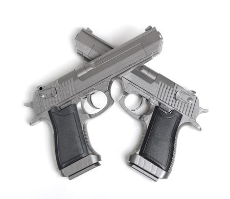 Pistol isolated on white background photo