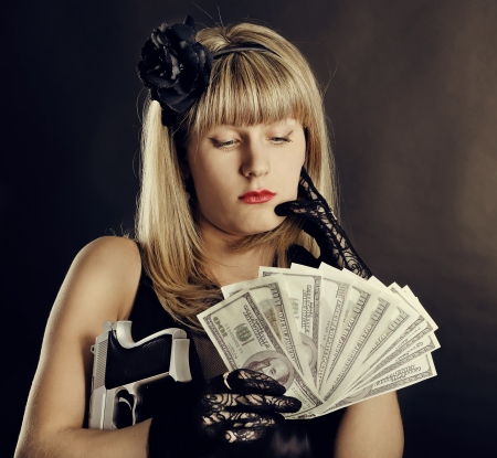 Gangster woman photo
