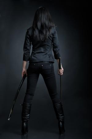 katana: Asian woman with a sword