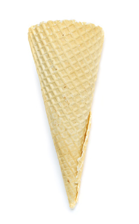 Ice cream cone isolated on white background photo