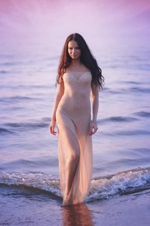 Woman in the sea Stock Photo - 22553169