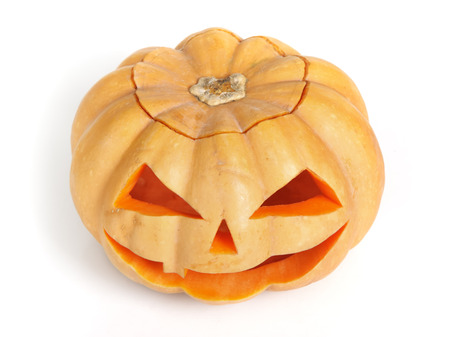 Halloween pumpkin isolated on white  photo