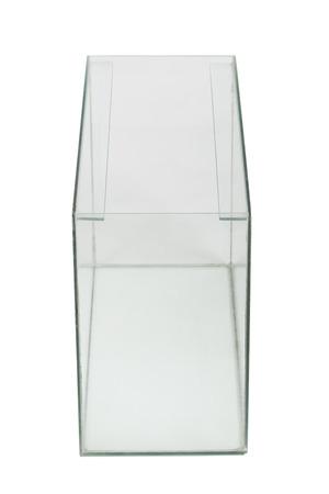 Empty aquarium isolated on white  photo