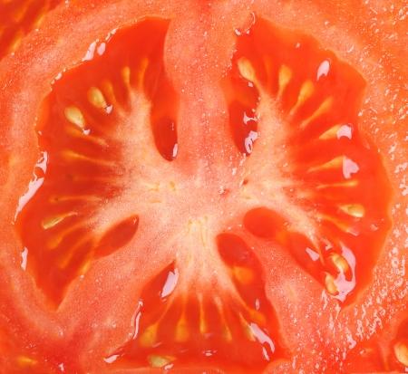 Slice of tomato as  photo