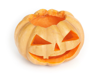 Halloween pumpkin isolated on white background photo