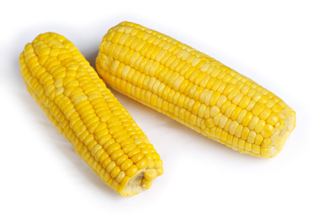 Ear of corn isolated on white background photo