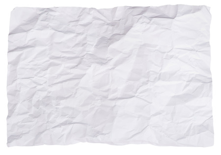 crinkled: Crumpled paper isolated
