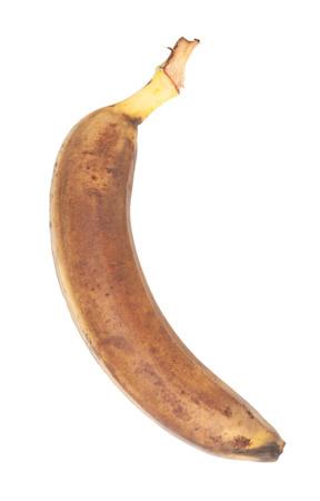 moulder: Old banana isolated on white background