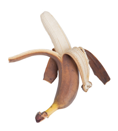 overripe: Overripe banana isolated on a white background
