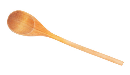 wooden spoon: Used wooden spoon isolated