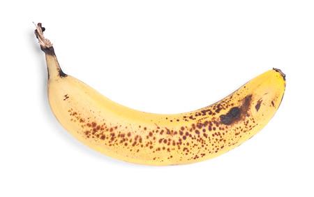 Rotten banana isolated on white background photo