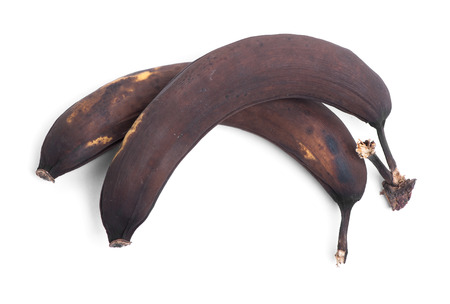 bad banana: Rotten banana isolated on white background