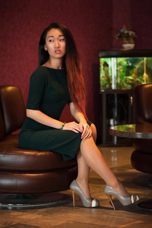indoors: Asian woman indoors