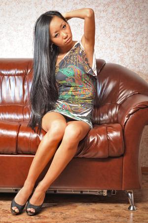 sexy asian woman: Sexy asian woman in dress