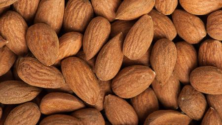 peeled: Peeled almonds closeup