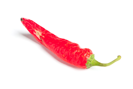 overripe: Old hot pepper isolated on white background Stock Photo
