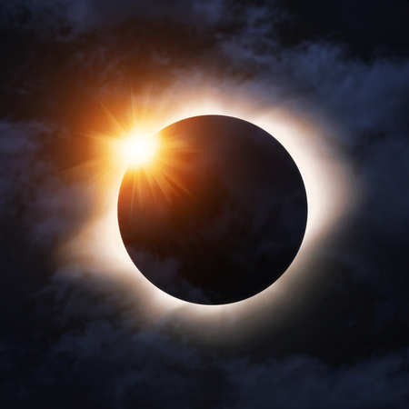 astrophysical: Total eclipse of the sun Stock Photo