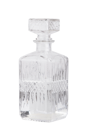BARWARE: Vintage decanter isolated on white background