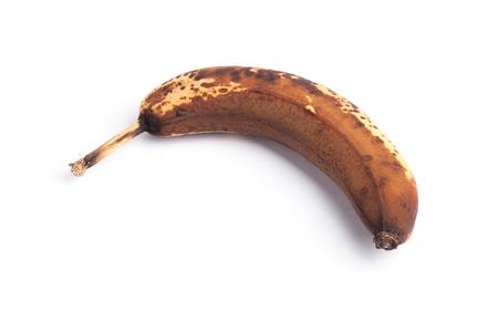 bad banana: Over ripe banana isolated on white background